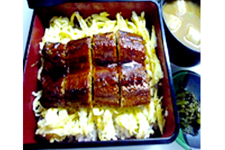 Unaju - Eel on Steamed Rice & Sliced Cooked Egg