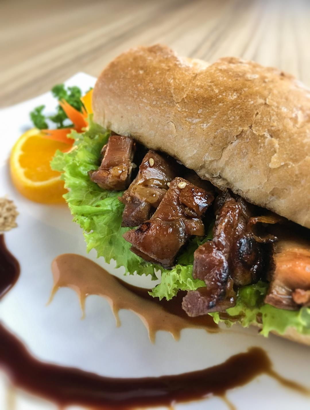 Chicken teriyaki is given a new twist as a sandwich meal.