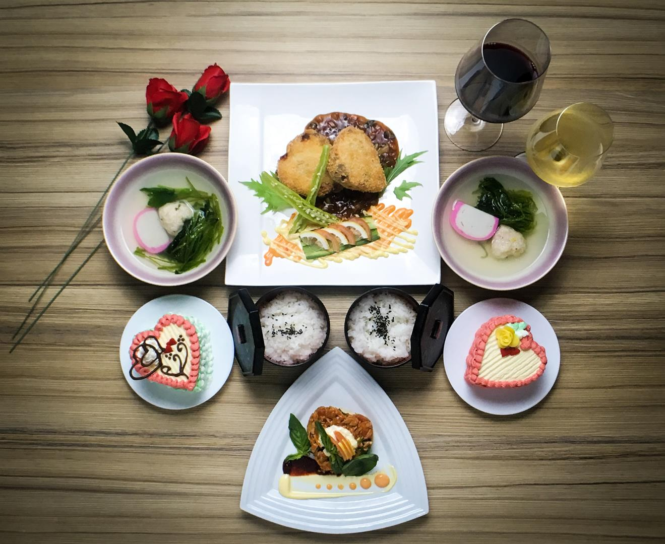 Kitsho's Valentine meal will surely seal every couple's heart with a kiss!