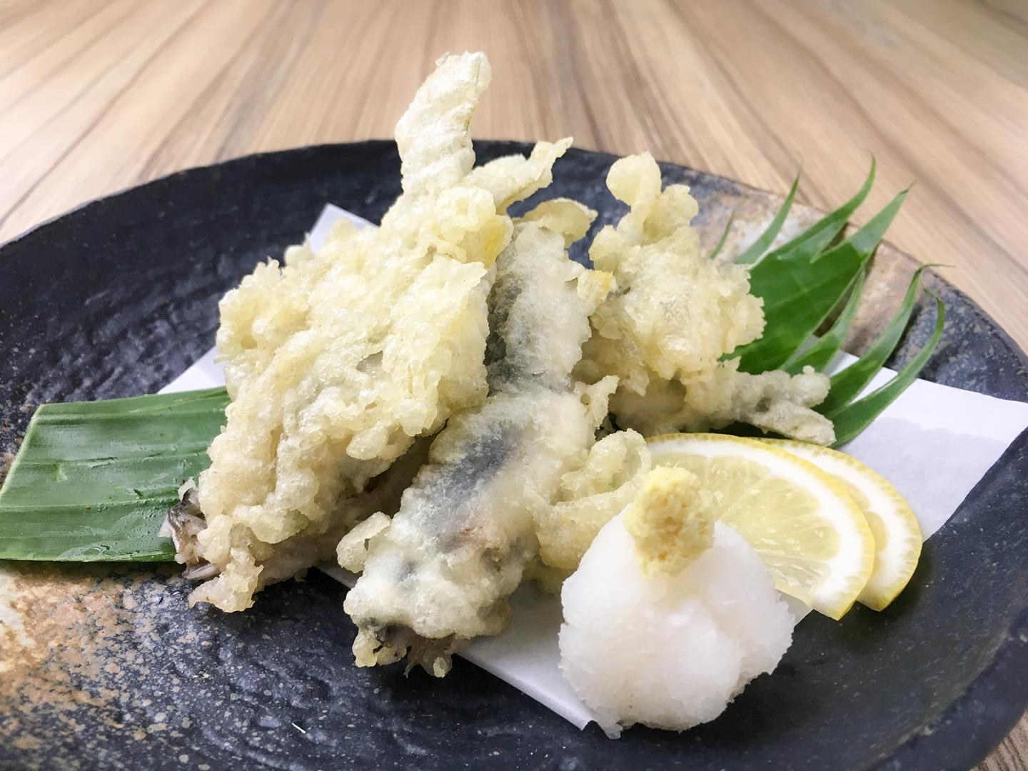 Chi ayu tempura is a delectable dish of young fish
