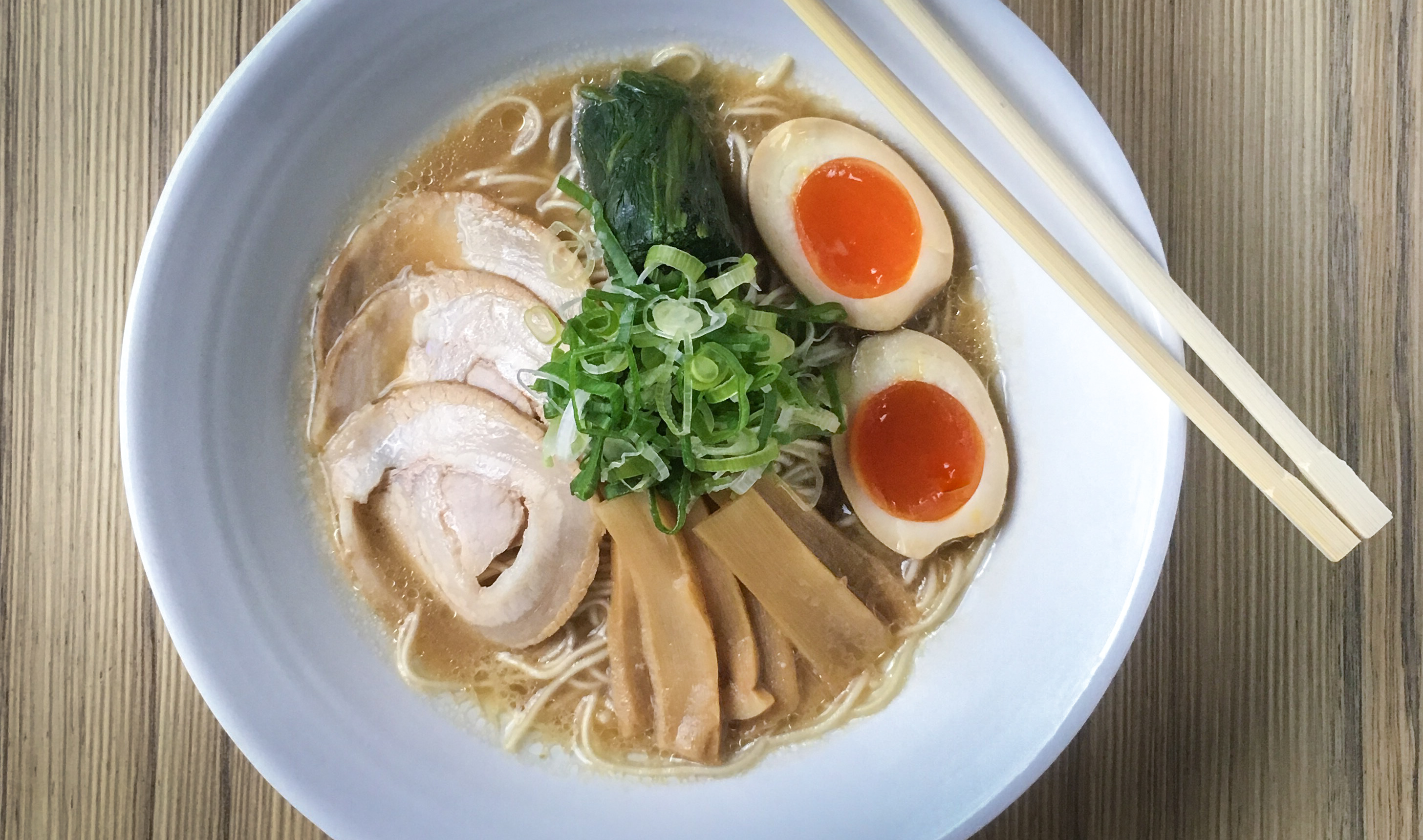 The Shouyu bowl is the closest one ever gets to the traditional Japanese ramen!