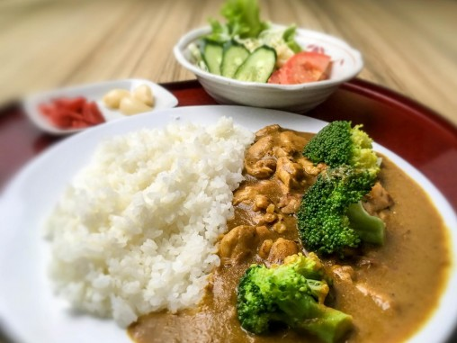 Try Kitsho's version of the all-time favorite Chicken Curry on rice.