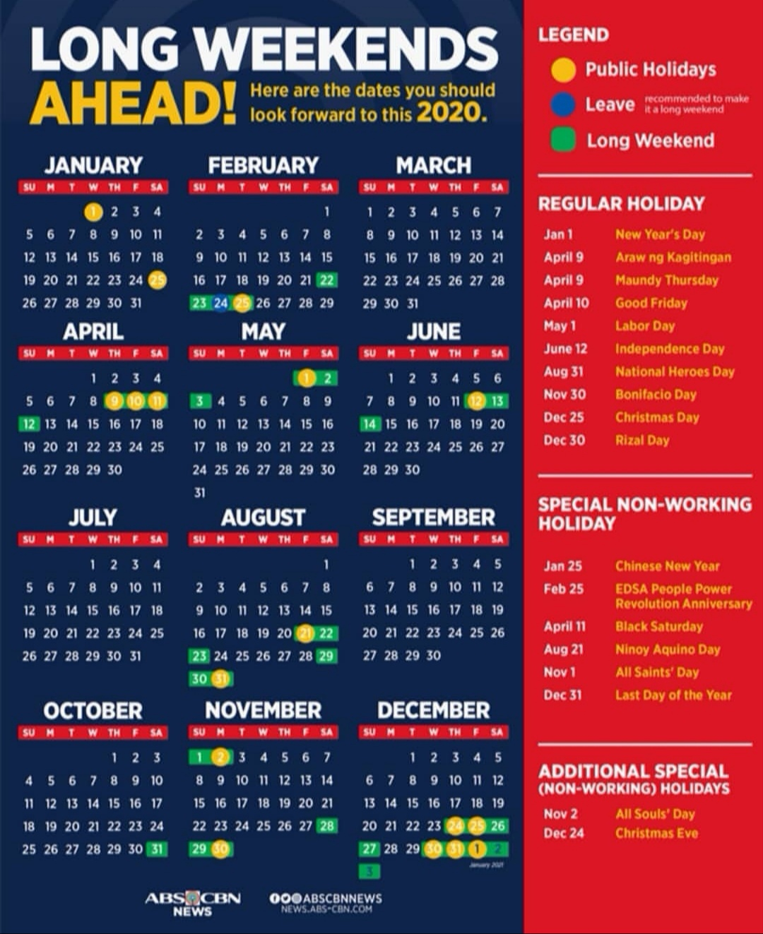 Guide to Philippine Holidays for 2020