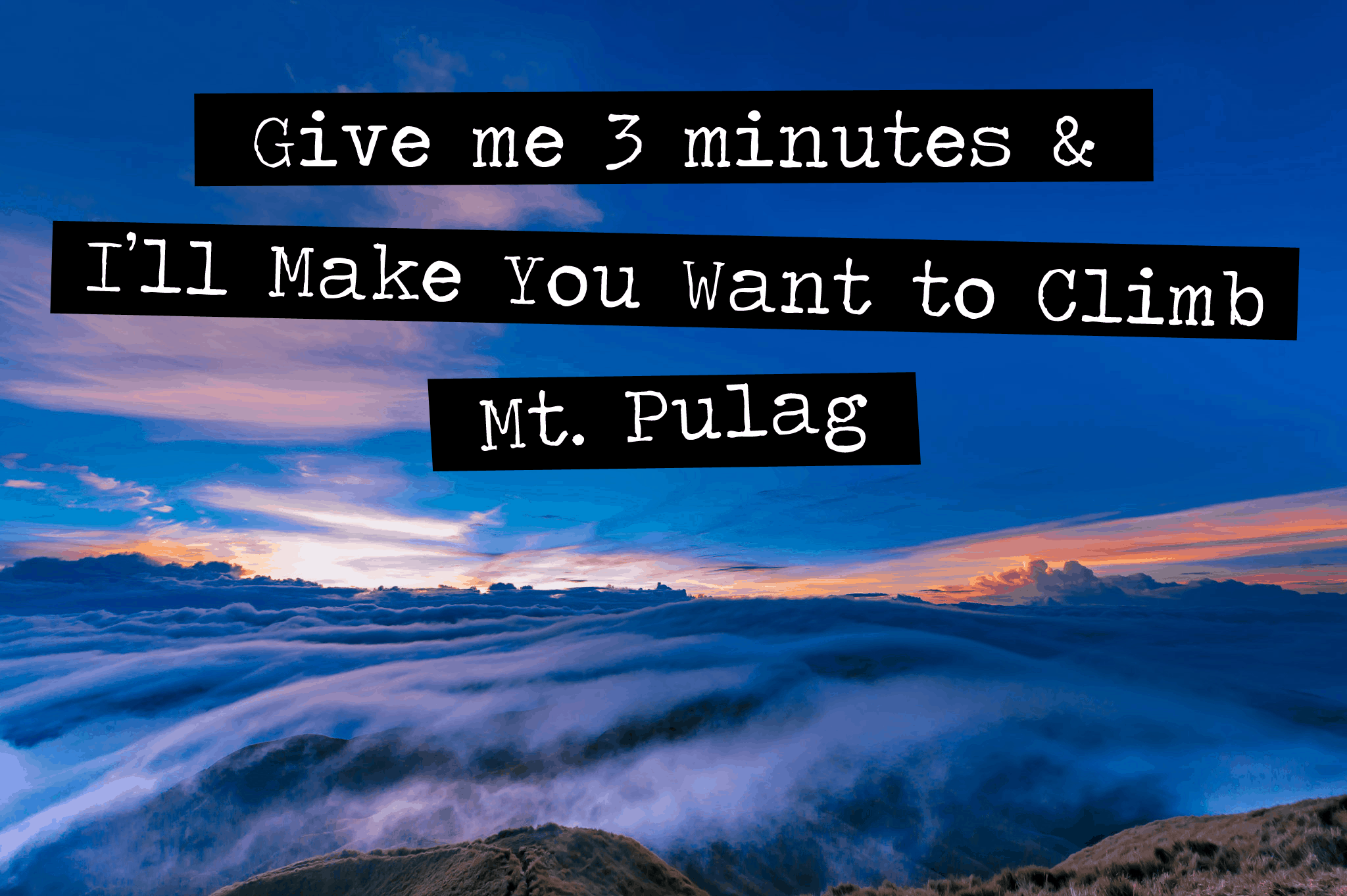 Mt. Pulag Itinerary