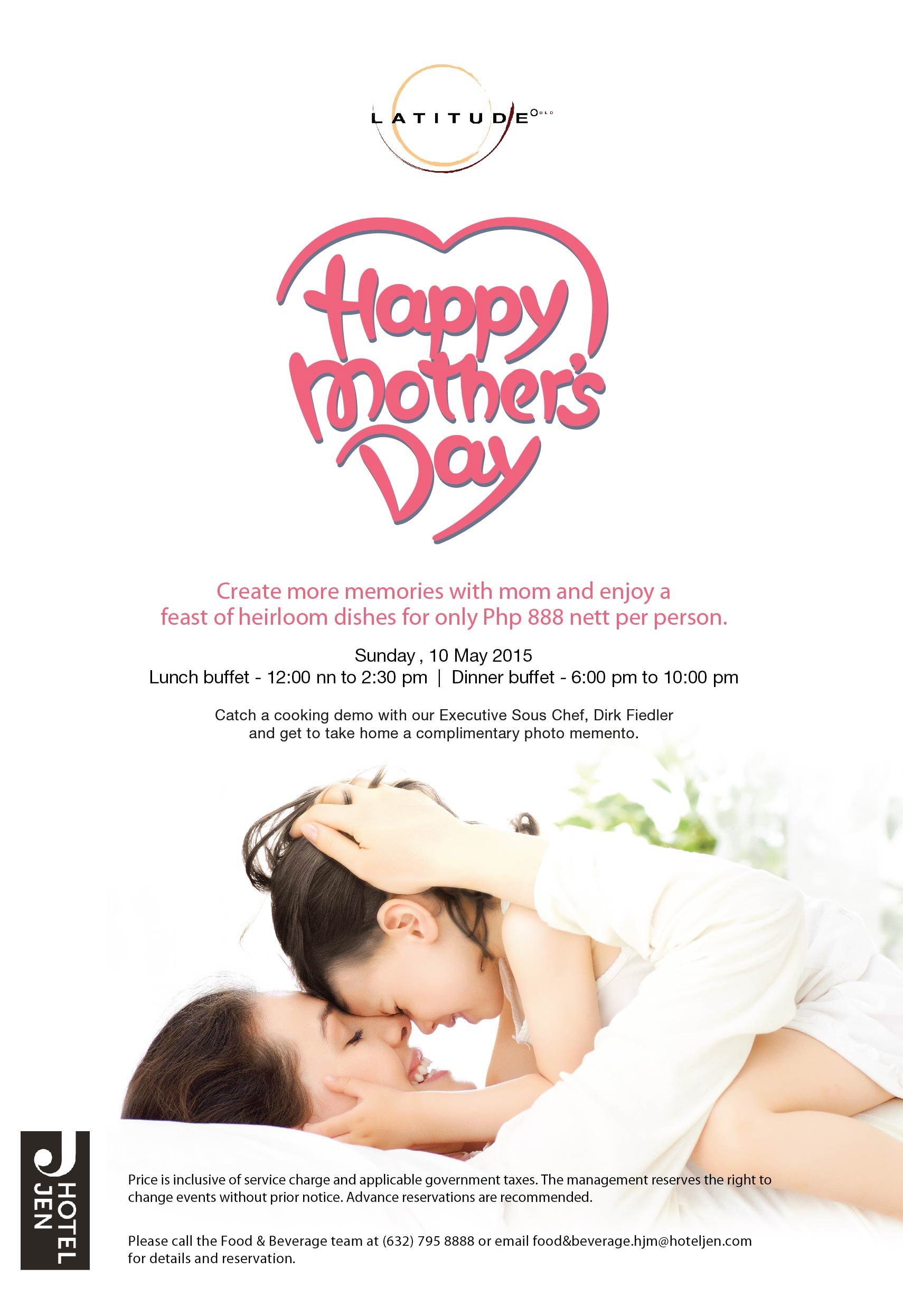 Mother's Day staycation Promo